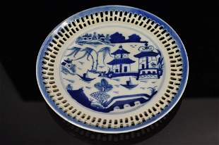 Chinese Canton Plate & Tea Bowl Grouping