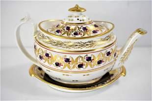 Early Coalport Teapot & Under Plate