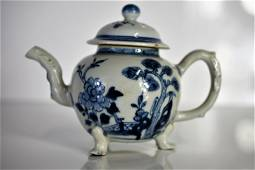 Antique Chinese Blue & White Teapot