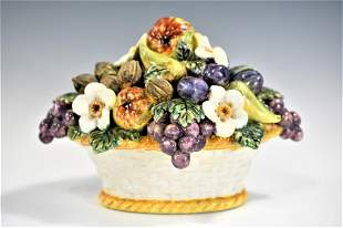 Large French Faience Majolica Centerpiece