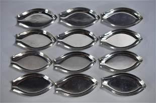 Sterling Silver Salts Set of 12