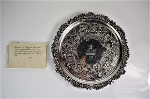 George III Old Sheffield Plate Footed Salver