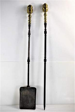 Oversized Queen Anne Shovel and Poker 18th Century