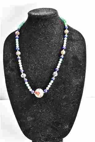Chinese Cloisonne Beaded Necklace