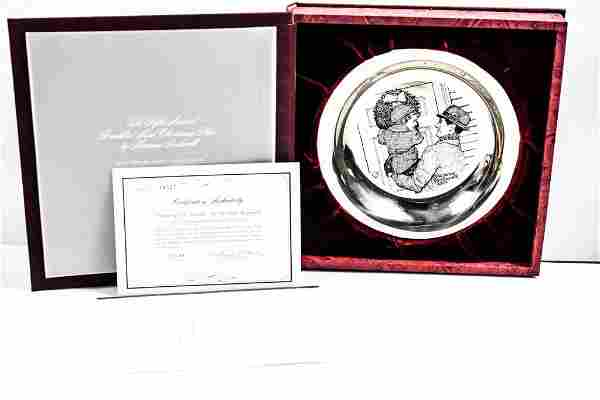 Norman Rockwell Sterling Silver Collector's Plate