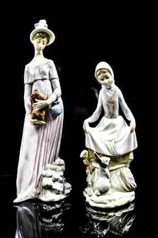 Lladro Porcelain Figures Grouping