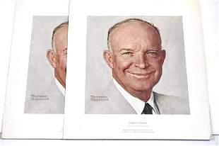 Norman Rockwell Dwight D. Eisenhower Lithographs