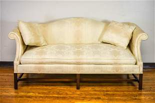 Queen Anne Camelback Sofa