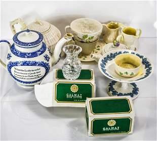 Lenox, Wedgewood, & Belleek Porcelain Grouping
