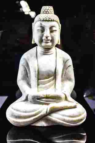 Chinese Marble Figure of a Seated Buddha