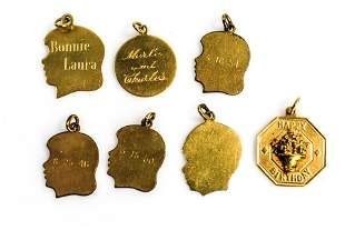 14k Gold & Gold Filled Charm Grouping