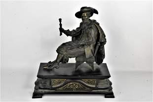 Antique Sculpture or Clock Topper of Nobleman