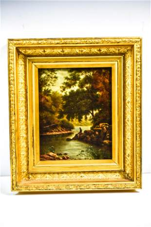 Continental Oil on Canvas of Landscape 19th C