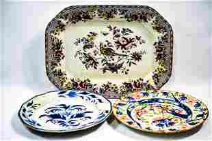 English Gaudy Dutch Plate Grouping