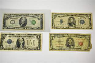 American Silver Certificate Bill Grouping