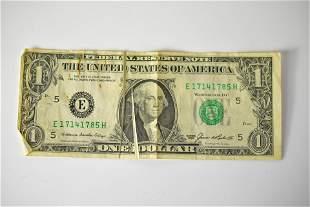 1985 $1 Bill Error Note