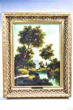 Toni Bordignon Landscape Paris France B 1927