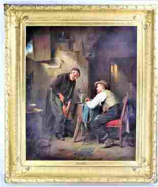 Joseph Miller (b. 1825) Oil on Canvas