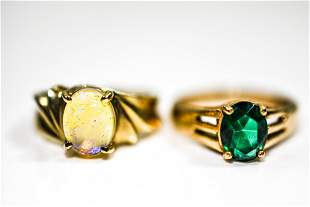 10K Yellow Gold Ring Grouping