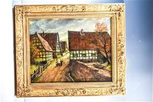 Hans Reifferscheid (German, b.1902) Oil on Canvas