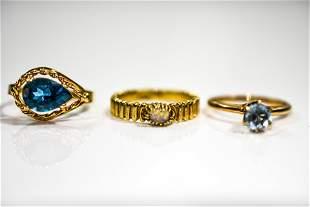 14K Yellow Gold Ring Grouping
