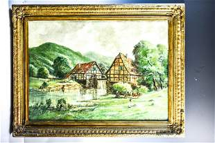 Hans Reifferscheid (German, b. 1902) Oil on Canvas