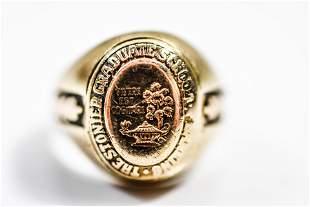 10K Yellow Gold Men's School Ring