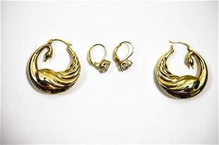 14K Gold Hoop Earring Grouping