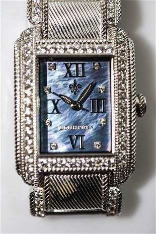 Judith Ripka Silver Collection Ladies Wrist Watch