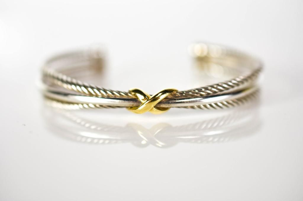 David Yurman 18K Gold and Sterling Bracelet