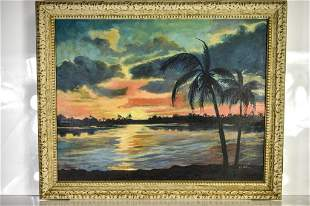 The Florida Highwaymen Oil on Canvas Painting