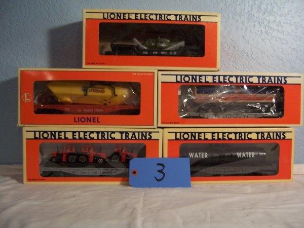 3: Lionel Flat Cars 16970, 16952, 16907, 16390, 16924