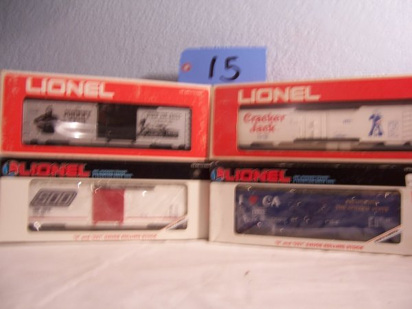 15: Lionel Box Cars 19905 19210 9780 Reefer 9853