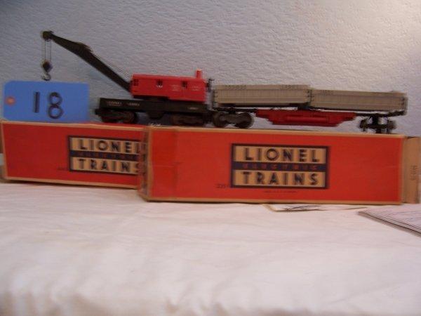 18: Lionel Dump Car 3359 Crane 6506