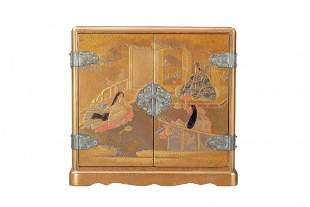 AN IMPERIAL LACQUER TREASURE BOX, MEIJI PERIOD
