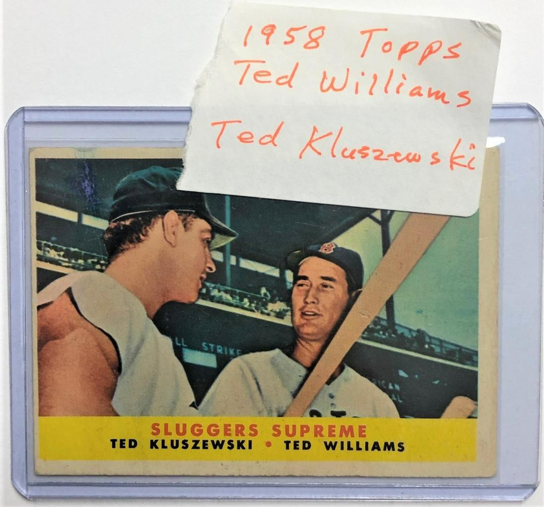 1958 TOPPS BASEBALL CARD