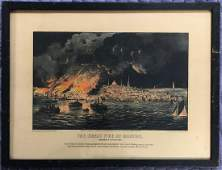 ORIGINAL 1872 CURRIER & IVES HAND COLORED LITHOGRAPH