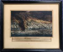 ORIGINAL 1871 CURRIER  IVES HAND COLORED LITHOGRAPH