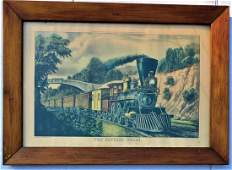 CURRIER  IVES LITHOGRAPH THE EXPRESS TRAIN