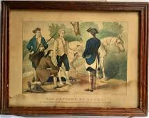 CURRIER  IVES LITHOGRAPH THE CAPTURE OF ANDRE