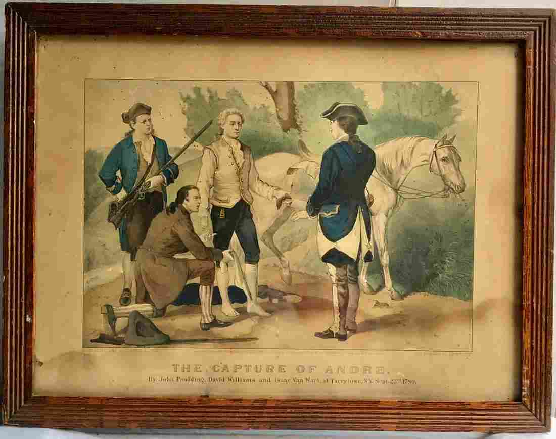 "CURRIER & IVES LITHOGRAPH ""THE CAPTURE OF ANDRE"""