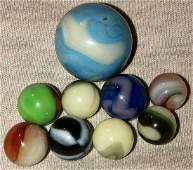 LOT 9 VINTAGE / ANTIQUE GLASS MARBLES