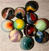 LOT 11 VINTAGE / ANTIQUE GLASS MARBLES