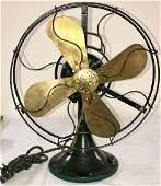 ANTIQUE GENERAL ELECTRIC BRASS BLADE FAN
