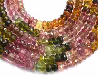 STERLING SILVER - TOURMALINE - NECKLACE ( 3 LINES )