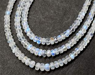 STERLING SILVER - RAINBOW MOONSTONE - NECKLACE