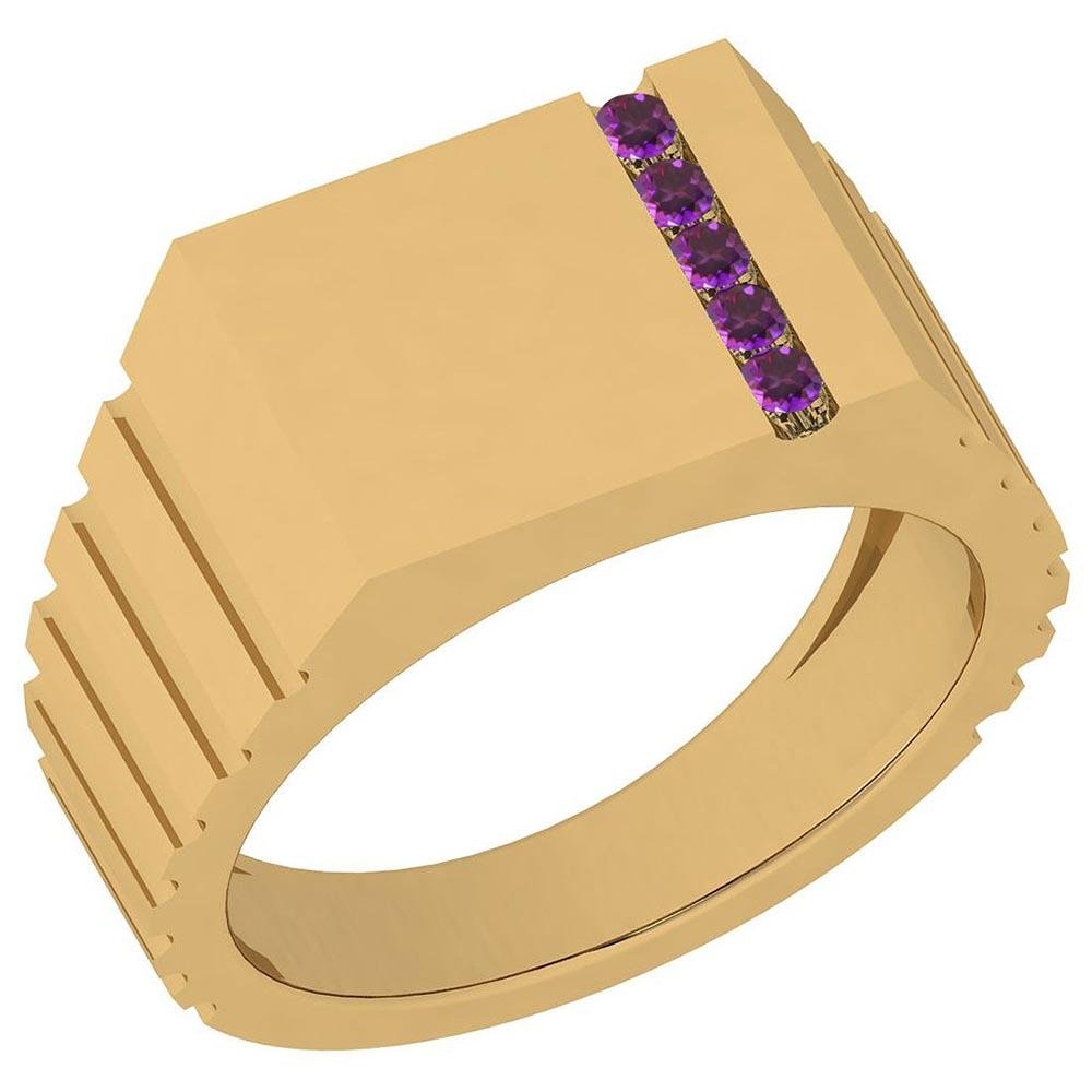 Certified 0.05 Ctw Amethyst 14K Yellow Gold Ring