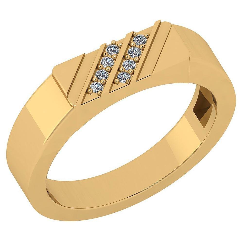 Certified 0.06 Ctw Diamond I1/I2 10K Yellow Gold Annive