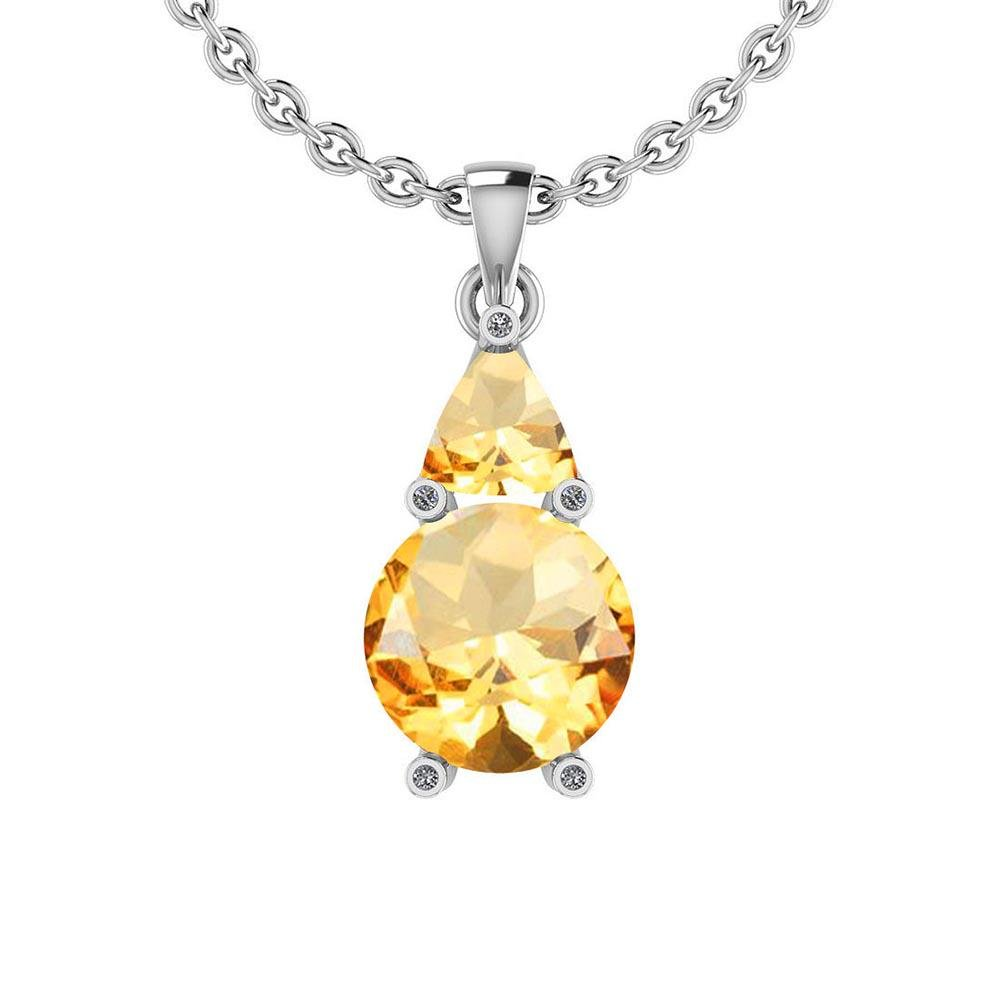 Certified 1.14 Ctw Citrine And Diamond I1/I2 14K Gold N