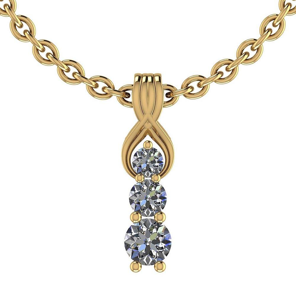 Certified 0.90 Ctw Diamond I1/I2 Charm Pendant Necklace